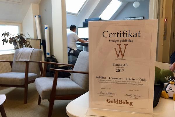Conoa Guldbolag Diplom 2017