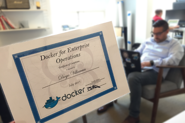 Kurs Docker for Enterprise Operations Certificate Diego