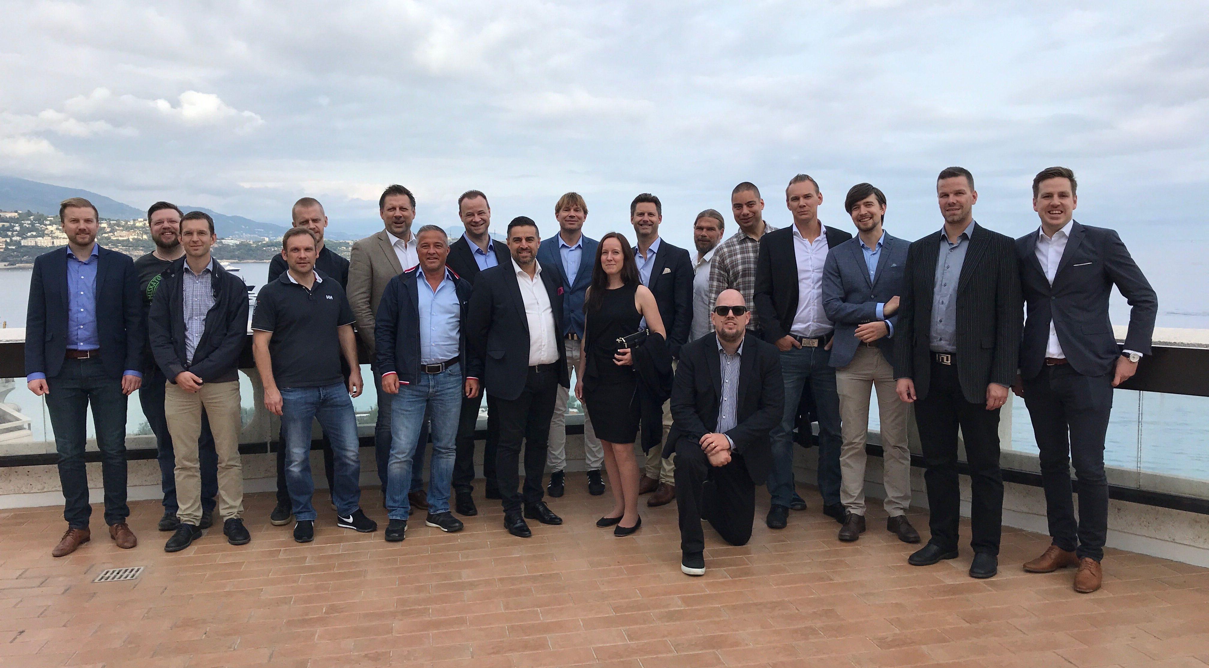 Gruppbild konferens i Nice - Monaco