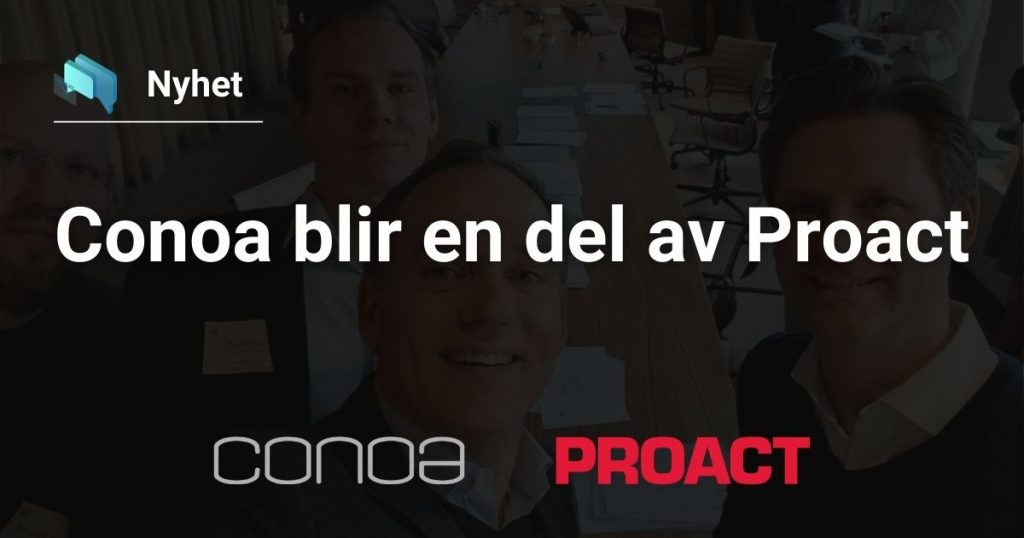 Conoa blir en del av Proact