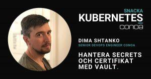 Vault Dima. Blogg Snacka Kubernetes.